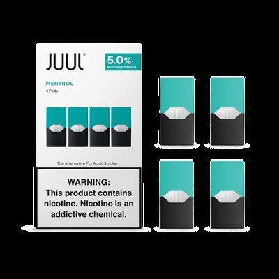 JUUL 5% PODS - MENTHOL - 4 PODS ( 8 PACK)
