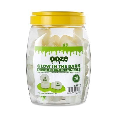OOZE SILICONE CONTAINERSGLOW IN DARK  - 75CT