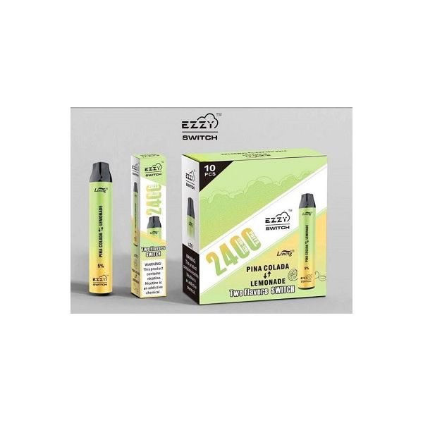 Ezzy SWITCH 5% Disposable 2 in 1 Device - 2400 Puffs - 10 Pack